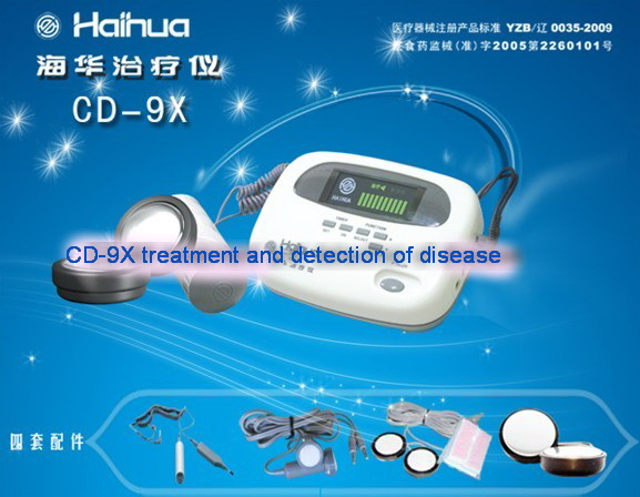electronic massage device CD-9X acupoint treatment , acupuncture point detection disease detector 9 cd