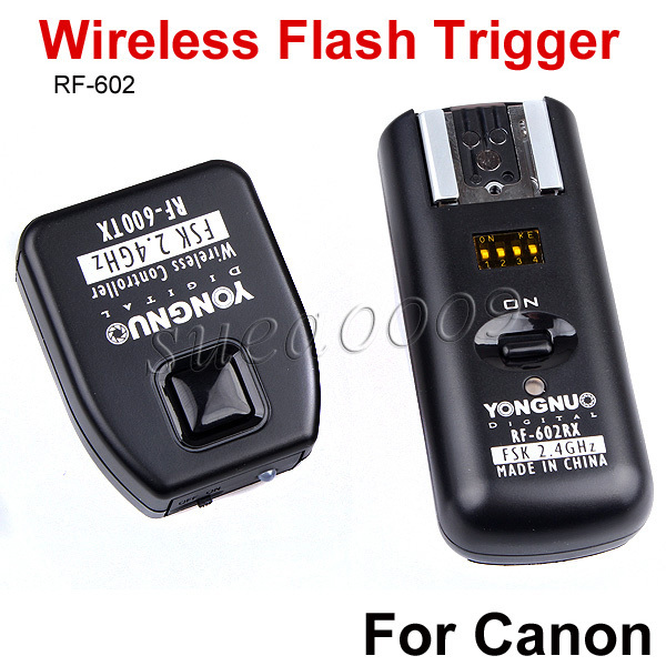 YONGNUO RF 602 2 4GHz Wireless Flash Trigger Receiver with Studio Cord for Canon 600D 550D