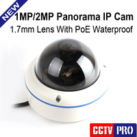 Panorama POE 2 0MP 1080P Outdoor IP Camera With 180 360 Degrees Full View Fisheye Cameras