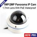2MP 720 P 1MP 1080 P POE Cámara IP Al Aire Libre Panorama Con 180/360 Grados de Vista de ojo de Pez Cámaras Onvif P2P Nube vista