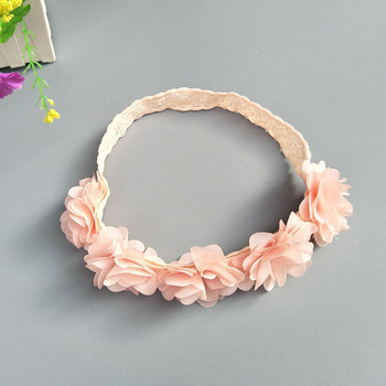 Baby Headband Flower Girls Pink Ribbon Hair Bands for Kids Turban Newborn Accessories 3