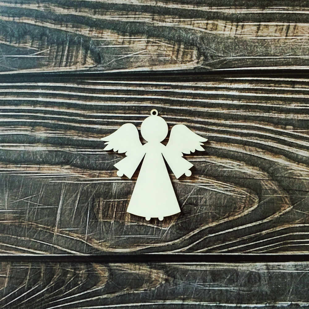 Laser Cut Wooden Wood Angel Wall Art Home Decor Wall Hanging Diy Craft Scrapbooking Party Decorations