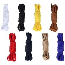 1Pair 8 Colors New Shoelace Top Quality Polyester Solid Classic Round Shoelaces Casual Sports Boots Lace 70cm 90cm 120cm 150cm