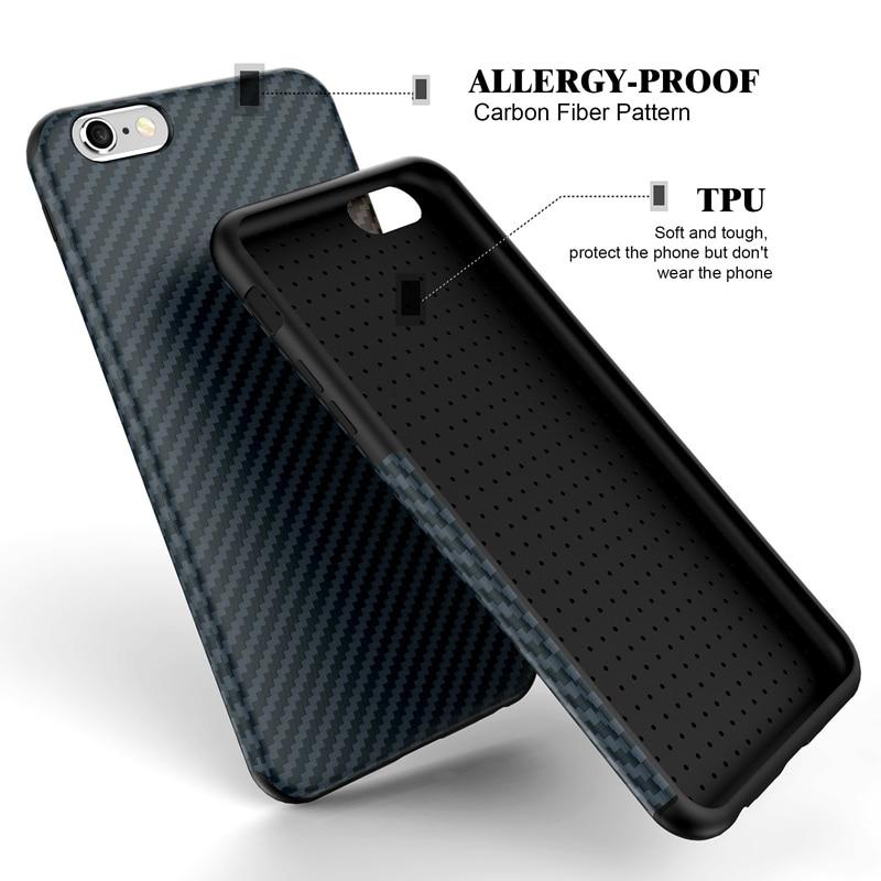 Փափուկ TPU ածխածնային մանրաթել ծածկ ՝ - Բջջային հեռախոսի պարագաներ և պահեստամասեր - Լուսանկար 2