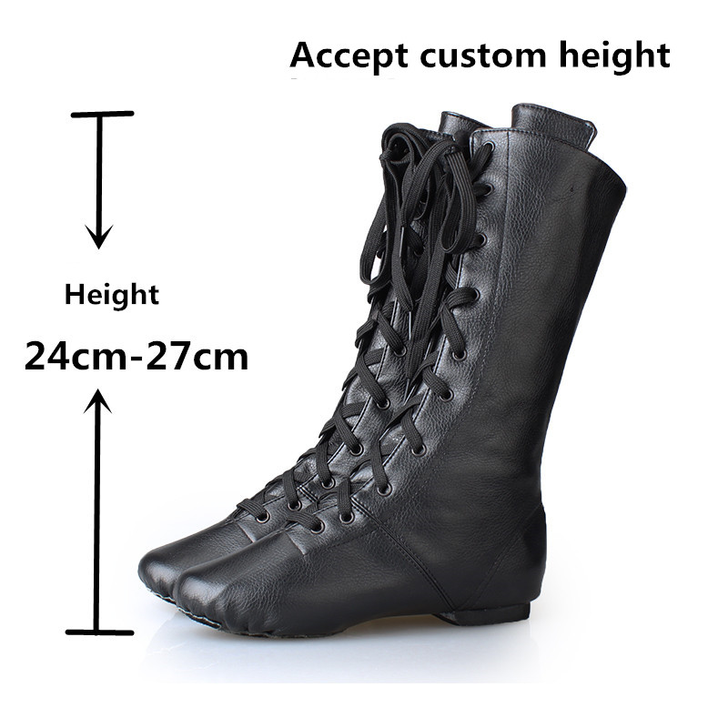 PU leather jazz boots male female dance shoes soft outsole jazz shoes high shoes dance national dance jazz sneakers for sale 8 colors high top jazz dancing cancas shoes dance shoes oxford lace up jazz sneaker canvas jazz ankle boots 5141