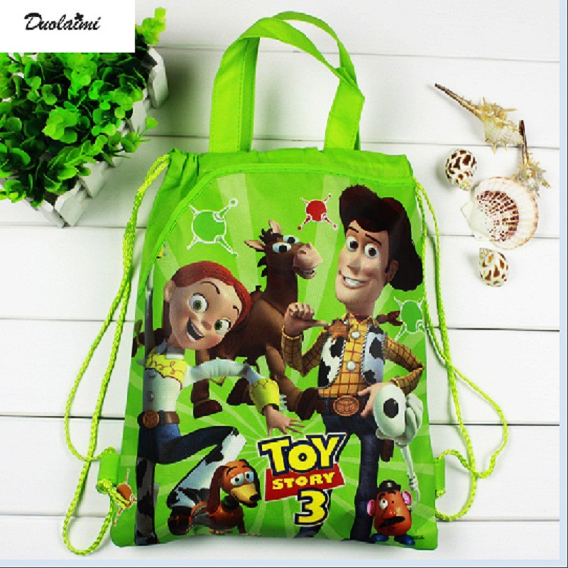 1 pieces / lot Toy Story Kids Cartoon Drawstring Trainers for Boys, Kids Birthday Party Favor,  School Children Backpack 4pcs lot winnie bear children cartoon drawstring school bags for boys kids birthday party favor mochila school kids backpack
