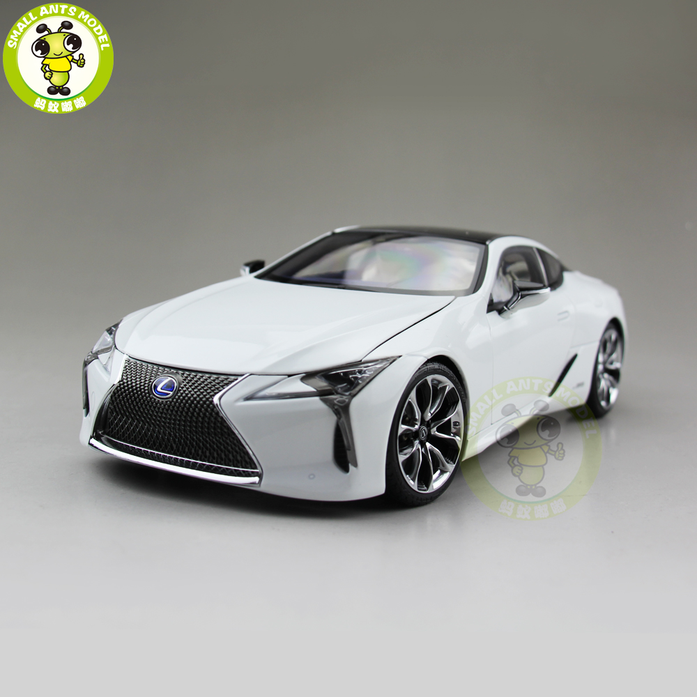 1/18 Toyota Lexus LC 500h Sports Racing car Diecast Model Car TOYS for KIDS hobby collection Gift White