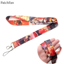 Patchfan ONE PIECE keychain lanyard webbing ribbon neck strap fabric para id badge phone holders necklace accessories A1272 купить недорого в Москве