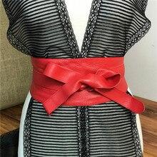 Genuine Leather Soft Belts For Women Corset Belt Wide Cummerbund Ceinture Femme Vintage Women Belt  Riem Female Cinto BTW0012