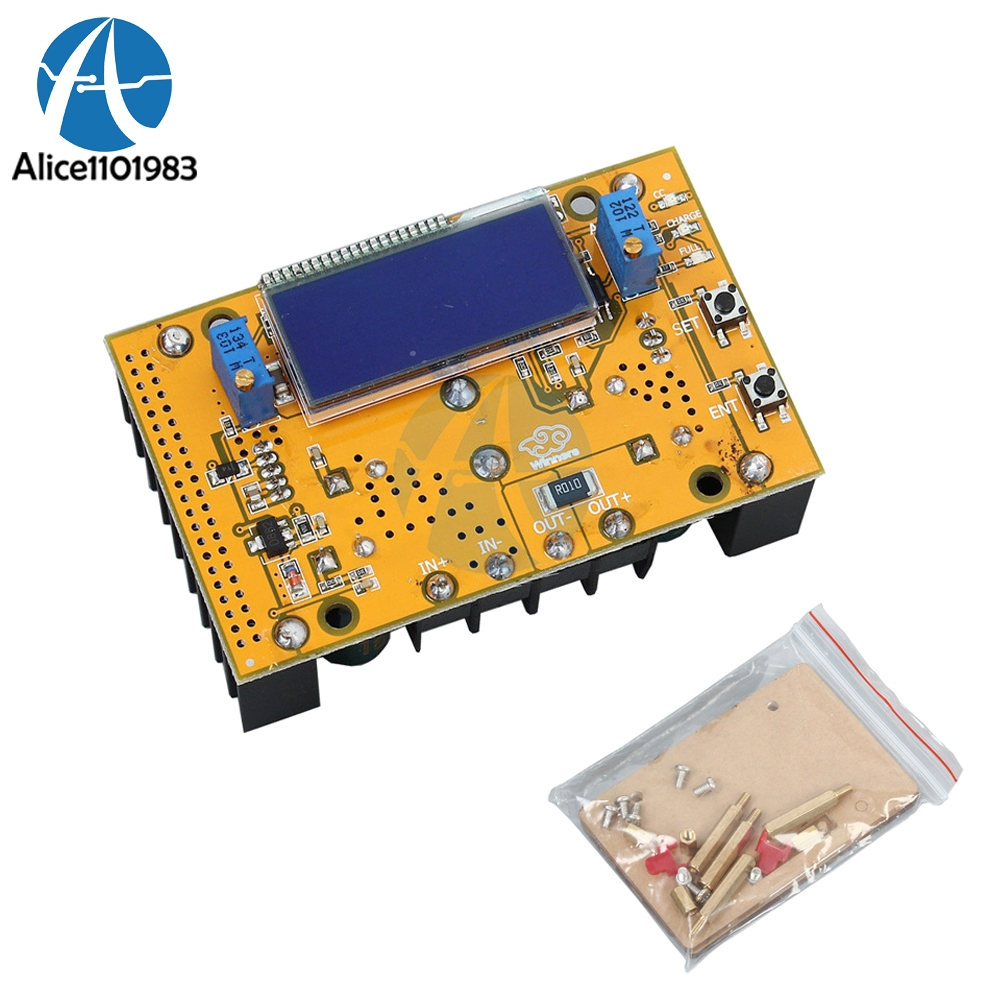 10A DC-DC Adjustable LCD Dual Display CC CV Power Supply Step Down Module Short Circuit Protection  Case DC-DC Boost Converter10A DC-DC Adjustable LCD Dual Display CC CV Power Supply Step Down Module Short Circuit Protection  Case DC-DC Boost Converter