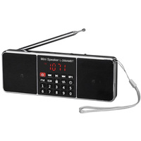 AM FM Radio Mini Portable Rechargeable Bluetooth Wireless Speaker Function TF Card USB Disk MP3