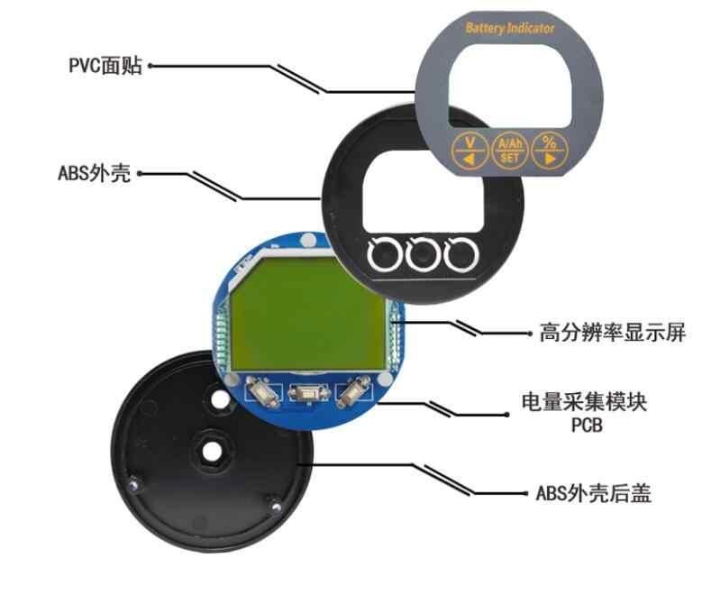 Батарея монитор 8-80 в 50A 100A 350A тестер емкости караван жилой автофургон UPS литий-железо свинцово-кислотный 12 В 24 в 36 в 48 в автомобильный ток