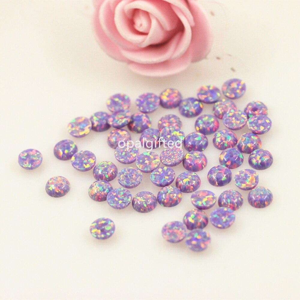 (50 pcs/lot) lâche cabochon opale pierre taille 5mm opale synthétique avec bon feu usine vente directe prix de gros pour collier-in Perles from Bijoux et Accessoires    1