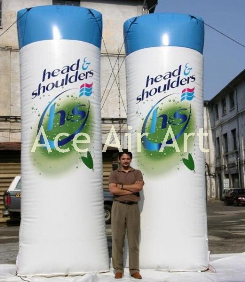 Gonflables gonflables de modèle de shampooing de produit de publicité pour la promotion avec le logo adapté aux besoins du client