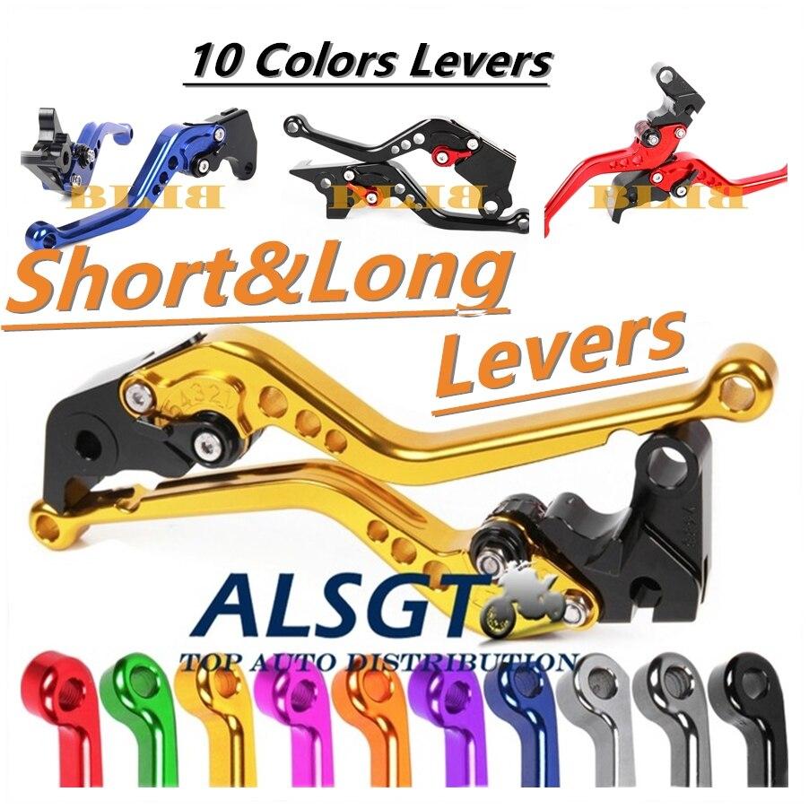 Para Honda XL1000 Varadero/ABS 1999-2013 CNC ajustable corto/largo nuevo embrague palancas de freno motocicleta 2 Estilo 10 Color
