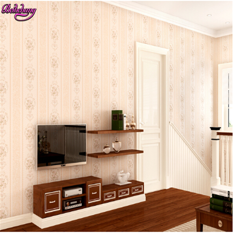 beibehang tapety Non woven wallpaper warm romantic pastoral wallpaper bedroom living room TV backdrop wall paper papel parede