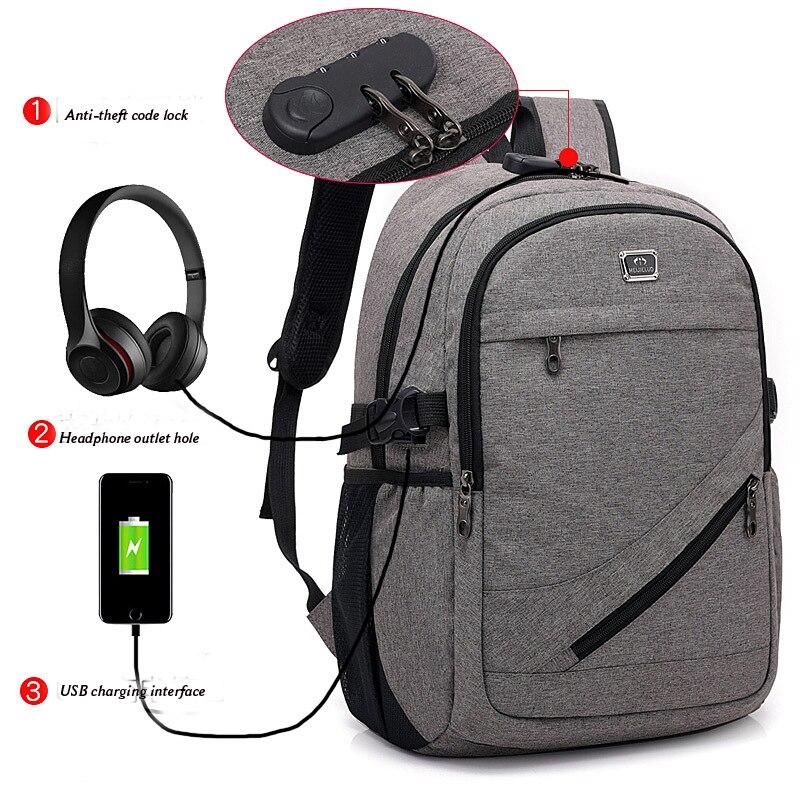 Multifunction USB Charging Men 15inch Laptop Backpacks For Teenager Men Backpacks for Girls Travel Backpack Bag Women Men