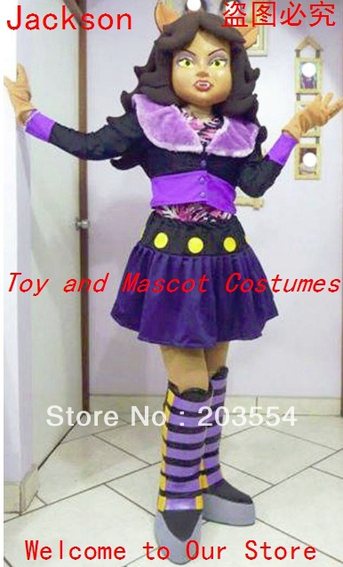monster high clawdeen wolf mascot costume halloween costume christmas costume - Clawdeen Wolf Halloween Costume