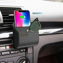 qi car wireless charger box-qi fast phone charging pad stand air vent holder storage box chargers9s8
