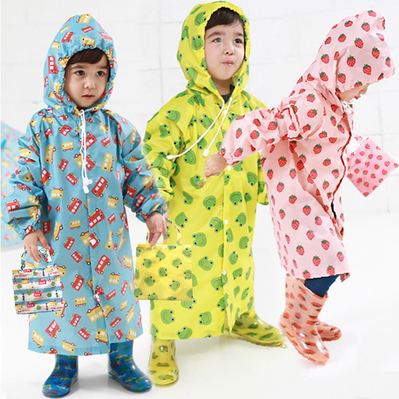 Crianças Capa De Chuva Bonito Capa De Chuva Infantil À Prova D' Água Japão Crianças Poncho Capa de Chuva casaco Impermeáveis Com Capuz jaqueta Impermeável