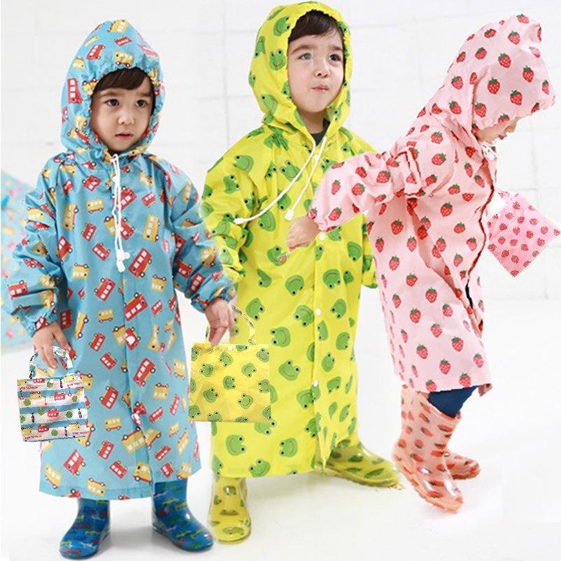 Kids Raincoat Cute Capa De Chuva Infantil Waterproof Japan Children Rain coat Cover Poncho Rainwear Hooded jaqueta Impermeable