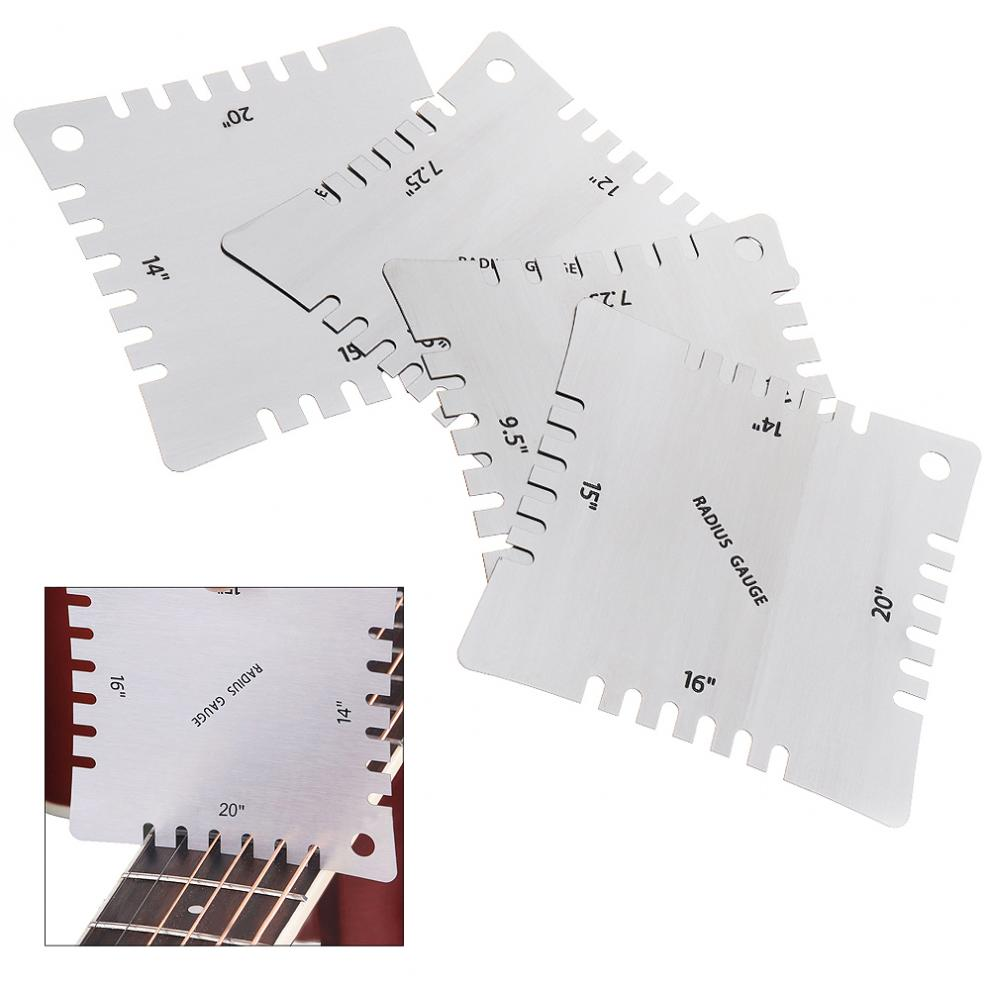 Sports & Entertainment The Cheapest Price 4pcs Stainless Steel Guitar Notched Radius Gauge Fingerboard Fretboard Measuring Tool Set Easy To Use