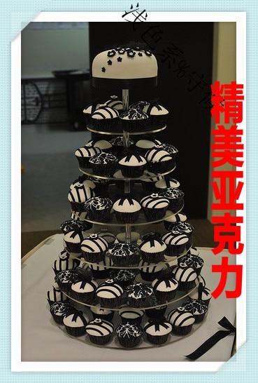 Vendeurs paquet mail 7 planchers de la nouvelle acrylique gâteau double sucre gâteau papier pour anniversaire tasse cadre Le mariage sac à dos de taille moyenne