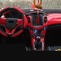 Red Fashion Center Console Air Outlet Steering Wheel Gear Frame For Chevrolet Cruze 2009 10 11 12 13 14 2015 AAA077