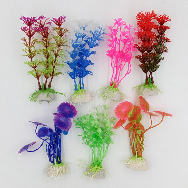 1 Pcs Plastic Aquarium Plants Plantas Artificial Wonder Fish Plant Accessories Aquario Ornament Decor