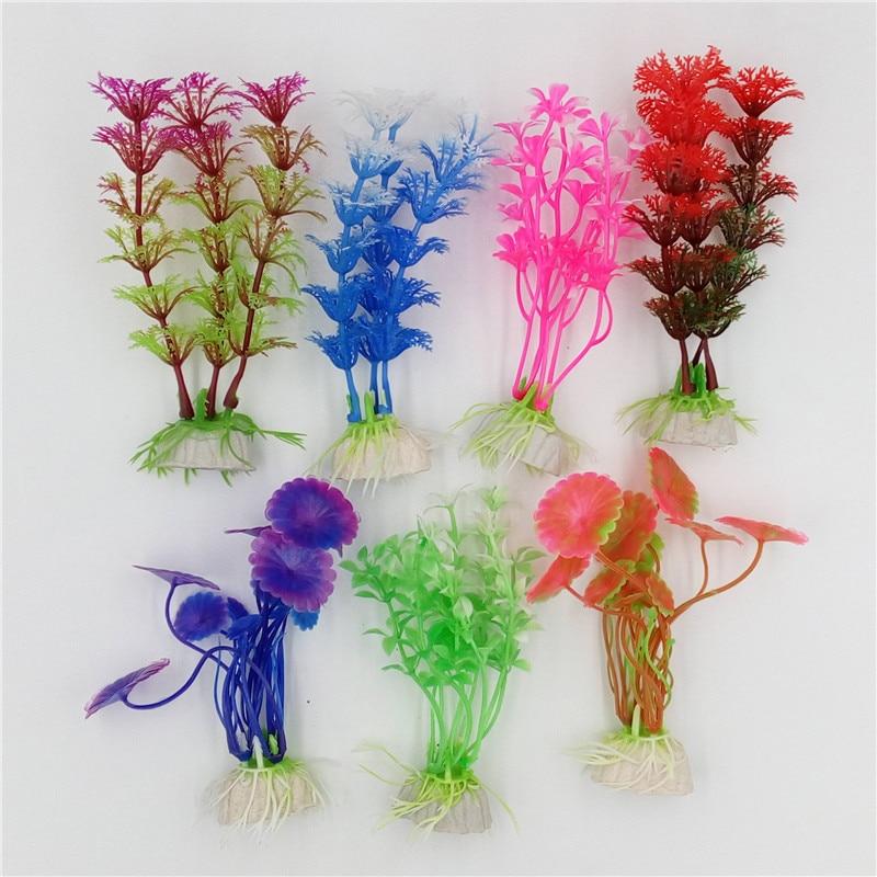 1 Pcs Plastic Aquarium Plants Plantas Artificial Wonder Fish Plant Accessories Aquario Ornament Decor