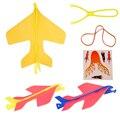 Iluminação modelo de avião mini diy crianças mão jogando voando luz aeronave avião planador piscando brinquedos modelo de avião planador brinquedo