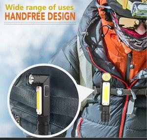 Image 5 - 8000LM Đèn Pin Led Handfree Dual Nhiên Liệu 90 Độ Xoắn Xoay Kẹp Chống Nước Nam Châm Mini Chiếu Sáng Đèn Pin Led Ngoài Trời