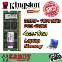 Kingston Notebook Laptop Memory RAM DDR3 4GB 8GB 1600MHz 204 Pin SODIMM Non ECC Wholesale For
