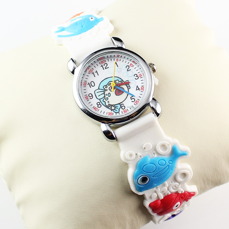 Fashion New 3D Kids Watch 3D Silicon Lovely Children's Rubber Boy Girl Sports Quartz Wrist Watch (20 Pieces)