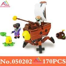 цена на Plants Vs Zombies Garden Maze Struck Game Action Toy & Figures Anime Figure Building Blocks Bricks Toys Educational Toys DBP164