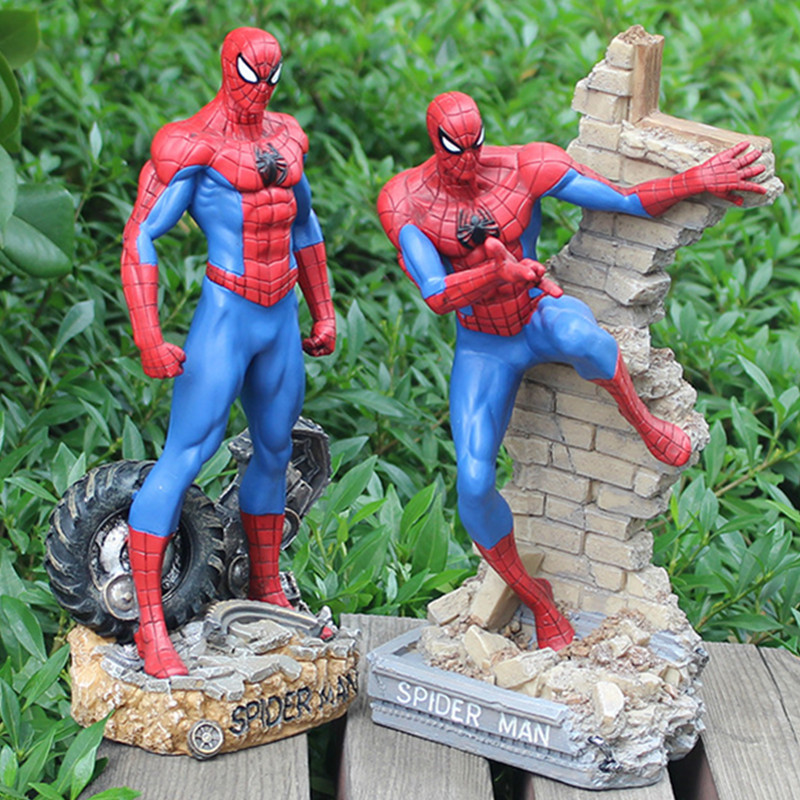 New Avengers Toys Amazing Spider-Man Tobey Maguire Cartoon Figures PVC Model Spider man Tom Holland Action Super Hero Toys L445
