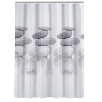Bathroom Shower Curtains 3D Waterproof Stone Plants Design Bathing Shower Curtains Home Decor Bathroom Product