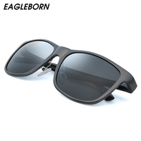 EAGLEBORN Aluminum+TR90 Sunglasses Men Polarized Brand Designer Points Women/Men Vintage Model Eyewear Driving Sunglasses Hacker