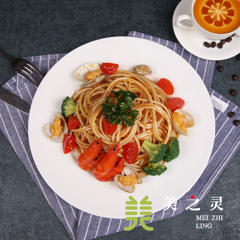 Cuisine occidentale Simulation Spaghetti alimentaire modèle plat affichage Restaurant décoration accessoires artisanat artificiel accessoires ornements