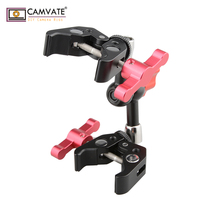 CAMVATE Articulating Magic Arm with 2 Crab Clamps (Red T handle) C1699 camera photography accessories