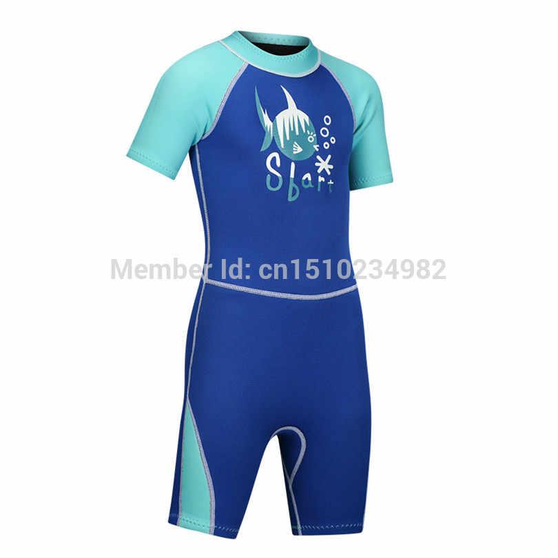 SBART 2mm Neopreen Shorty Wetsuit Kids Voor Zwemmen Jongens Meisjes Zonnebrandcrème Surfen Duiken Nat Pak Snorkelen 4xl-s