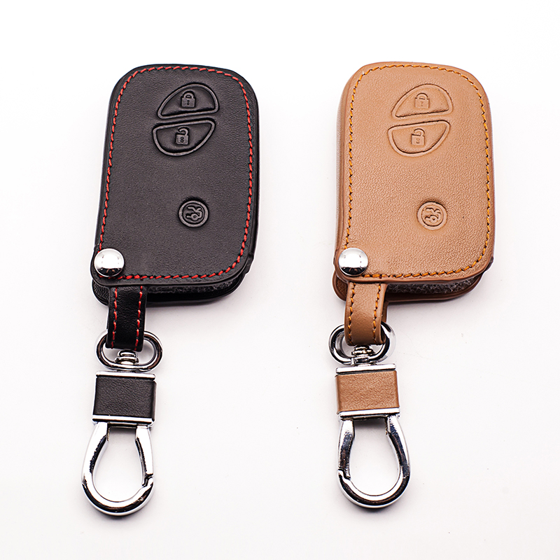 leather car key cover case for Lexus smart key ES 300h 250 350 IS GS CT200h RX CT200 ES240 <font><b>GX400</b></font> LX570 RX270 remote control case image