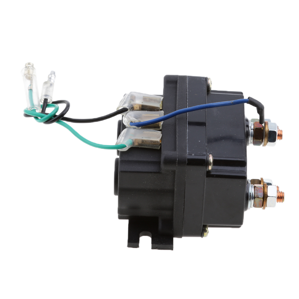 Image 4 - 12V Sealed  Electronic Winch Relay Contactor Solenoid Universal Part for ATV UTV Truck Car Auto Black 80mm*7.5mm*40.5mm-in ATV Parts & Accessories from Automobiles & Motorcycles