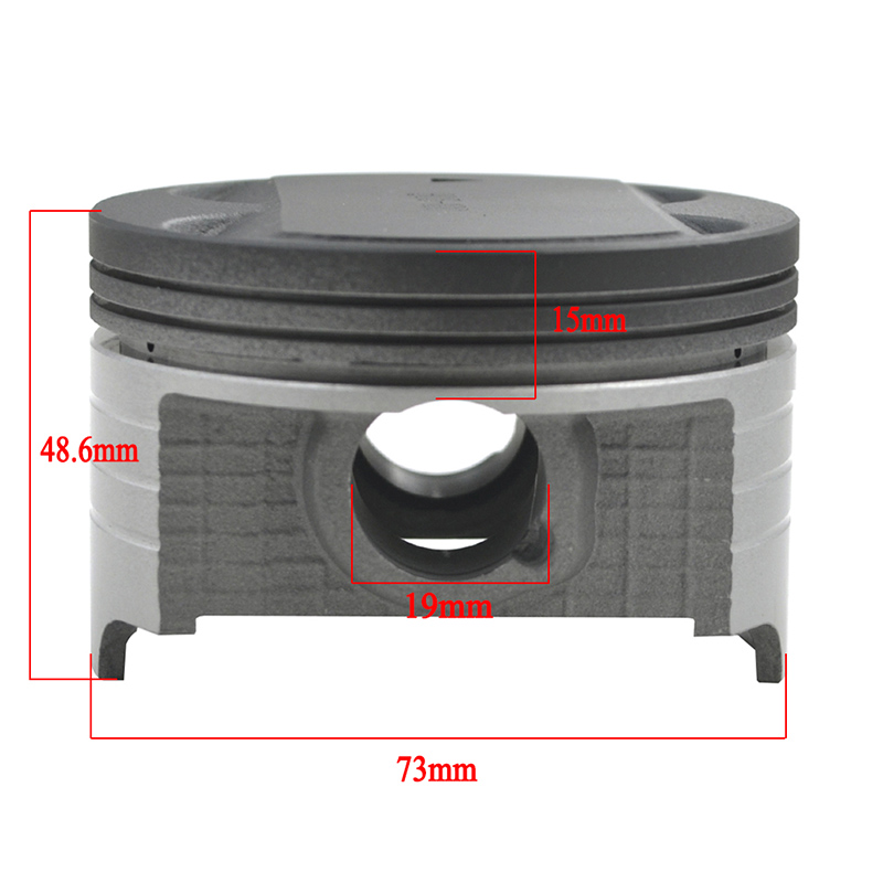 Motorcycle Cylinder Bore Size 73 73.25 73.50 73.75 <font><b>74mm</b></font> 74.5mm <font><b>Piston</b></font> <font><b>Rings</b></font> Kit For Suzuki AN250 250cc Burgman Skywave 250 DR250 image