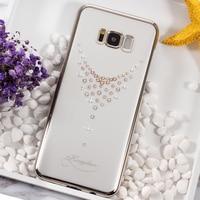KINGXBAR Phone Capa For SamsGalaxy S8 S8 Case Swarovski Crystal Diamond Plated PC Case For Samsung