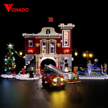 Свет для Lego 10235 10249 10254 10245 10259 10263 Рождество зимняя деревня 36001 создатель город поезд строительные блоки