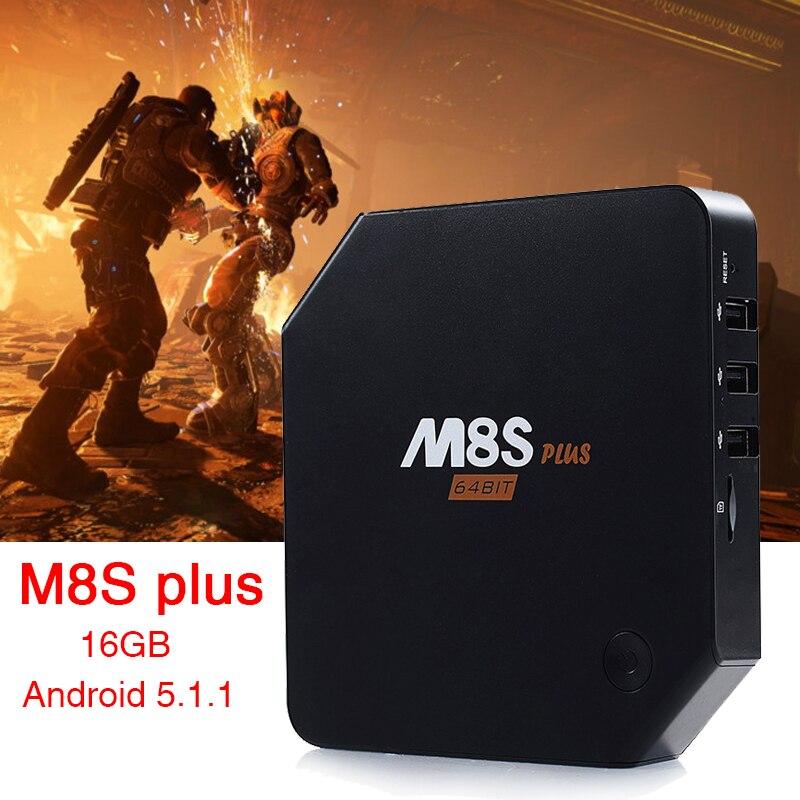 M8S Plus M8s+ Android 5.1 TV Box Amlogic S905 Quad core 2G/16G Dual WiFi Bluetooth 4.0 KODI IPTV Channels Set top box PK M8S m8 fully loaded xbmc amlogic s802 android tv box quad core 2g 8g mali450 4k 2 4g 5g dual wifi pre installed apk add ons