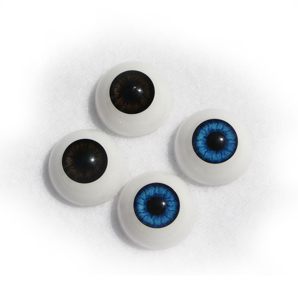 2 Pairs Half Round Acrylic Doll Eyes Realistic Blue or Brown Can Choose Suit 22-23 Inch Reborn Baby Doll Accessories Wholesale рюкзак madpax rex 2 half light blue multicolored kab24485083 225874