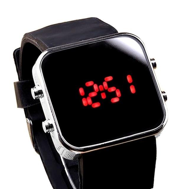 Xiniu Watch 2018 New arrival Mirror Mens LED Digital Sport Unisex Watch Gift Fas