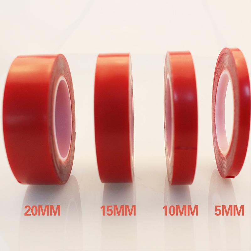 5/10/15/20mm Transparent Silicone Double Sided Tape Sticker For Car Styling Wall Home High Strength No Traces Adhesive Sticker(China)